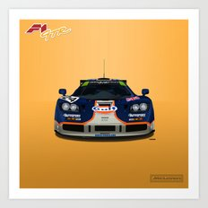 McLaren F1 GTR #02R - 1995 Le Mans 4th place - Front View Art Print