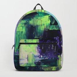 Violet & Green On A Rainy Day Backpack