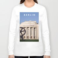 theatre Long Sleeve T-shirts featuring BERLIN OST - VOLKSBÜHNE - Theatre by CAPTAINSILVA