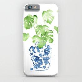 Ginger Jar + Monstera iPhone Case