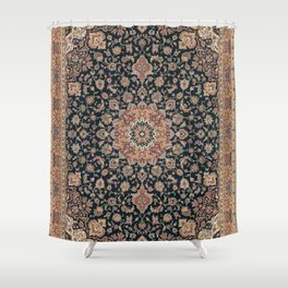 Graphic Antique Persian Rug Shower Curtain