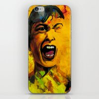 scream iPhone & iPod Skins featuring Scream by Kristie Holiday