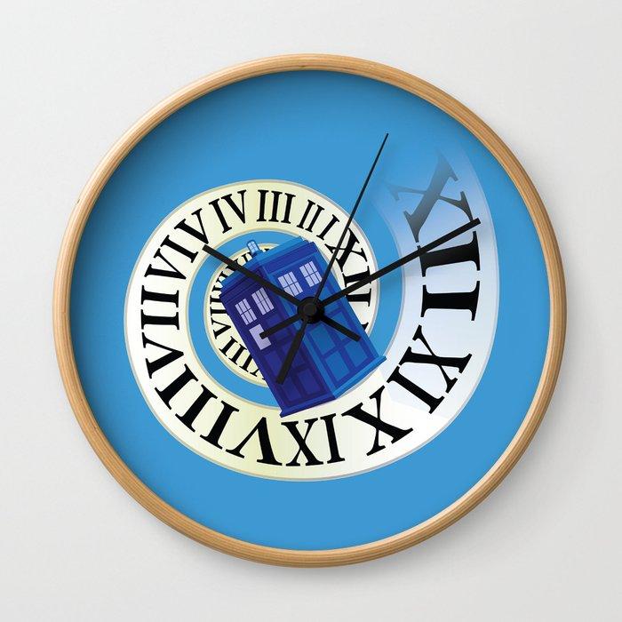 TARDIS in Time Wall Clock