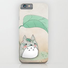 Floral Totoro iPhone Case
