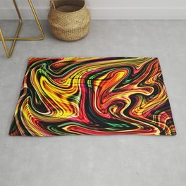 Abstract Art Colorful Fluid Volcanic Lava Rug
