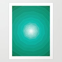 polygon Art Prints featuring Polygon. by Caitlin Charters Bell