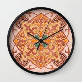 Brown Mandala 02 Wall Clock