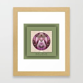 Believe Manifestation Mandala No. 2 Framed Art Print