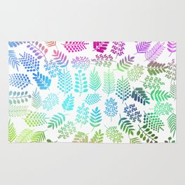 Colorful branches 3 Rug