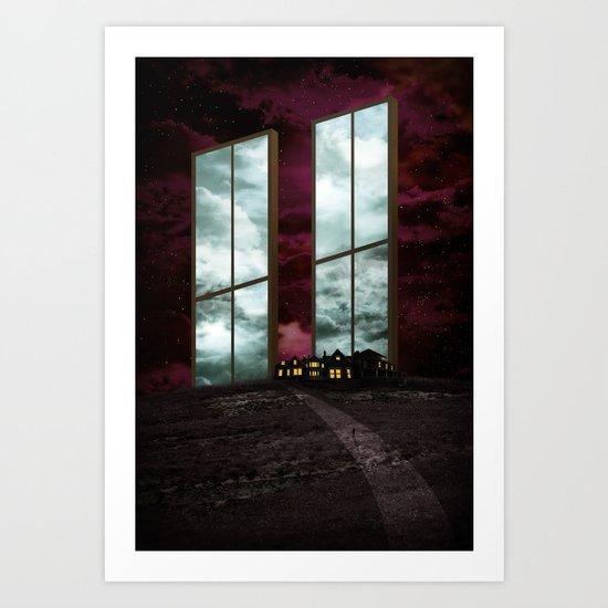 Two Windows. Art Print