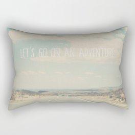 lets go on an adventure ... Rectangular Pillow