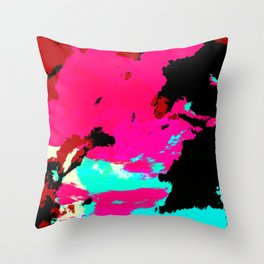 Colorful Abstract Decorative Bohemian Style Pattern - Ichiyacko Throw Pillow