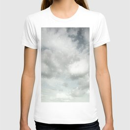 Snowing Winter Scene Illustration #decor #society6 T-shirt