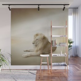 White Lion Wall Mural