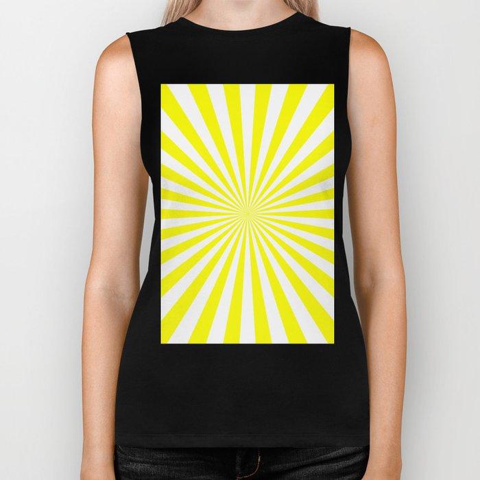 Starburst (Yellow/White) Biker Tank