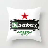 heisenberg Throw Pillows featuring Heisenberg by le.duc