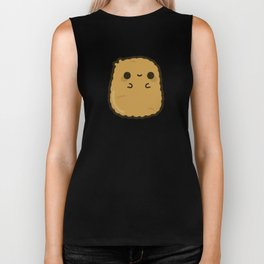 Cute chicken nugget Biker Tank