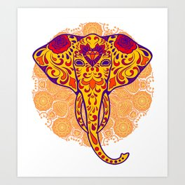 Elephant in the Parade Art Print