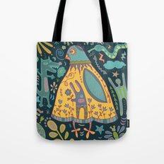 Chatty Yellow Bird Tote Bag