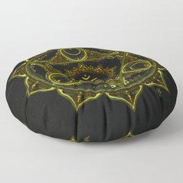 Solar Plexus Mandala Floor Pillow