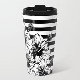 Hand Drawn Hibiscus Travel Mug