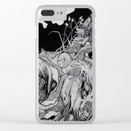 Tree Roots with Plants Clear iPhone Case