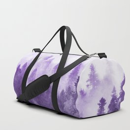Ultra Violet Forest - And So The Adventure Begins Nature Photography Typography Duffle Bag