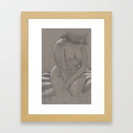 Caroline sitting Framed Art Print