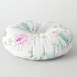 Simply Cactus Rose Floor Pillow