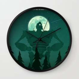 The Iron Giant - You Are Who You chose to be Wall Clock