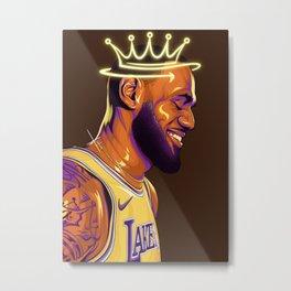 """Lebron """"The King"""" James Metal Print"""