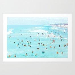 Hot Summer Day #painting #illustration Art Print