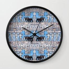 Egyptian Pattern VI Wall Clock