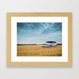Abandoned Car Art Evoque in field Framed Art Print