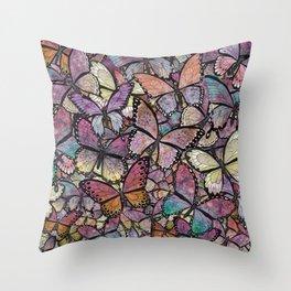 butterflies aflutter rosy pastels version Throw Pillow