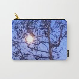 Early Morning Moon and Blue Sky Carry-All Pouch