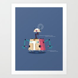 :::Mini Robot-Vrahion::: Art Print