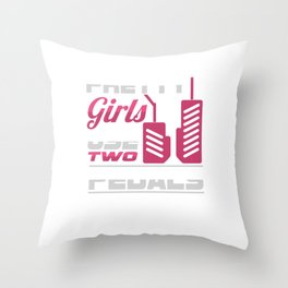 Racing Auto Automobile Automotive Racers Gift Pretty Girls Use Two Cars Throw Pillow