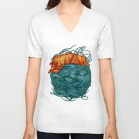 happiness V-neck T-shirts featuring Happiness  by Nicolae Negura