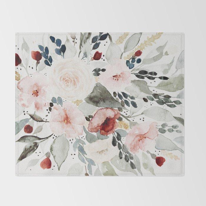 Loose Watercolor Bouquet Decke