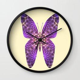 Butterfly 5 (purple) Wall Clock