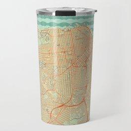 San Francisco Map Retro Travel Mug