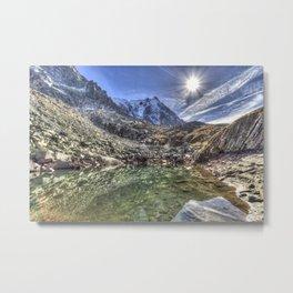 Mont Blanc Glacier Lake Metal Print