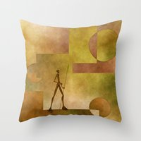 african Throw Pillows featuring African by gabiw Art