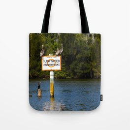 Manatee Zone Tote Bag