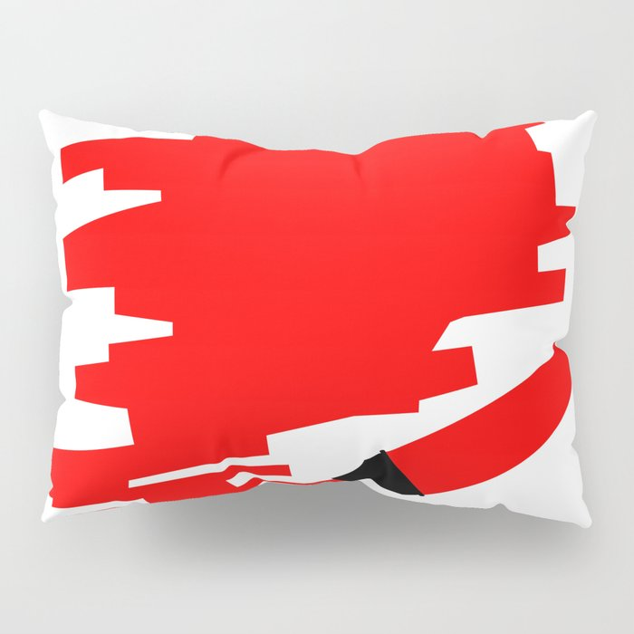 Red Marker Copy Space Pillow Sham