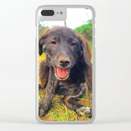 Precious Puppy Clear iPhone Case
