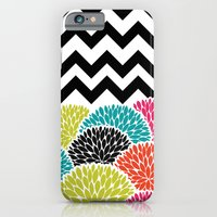 Tropical Flowers Chevron iPhone 6s Slim Case