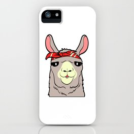 Alpaca Shirt With A Cute Illustration Of Alpaca Llama With A Scarf On His Head T-shirt Design iPhone Case
