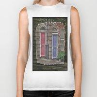 doors Biker Tanks featuring Dublins Doors by Christine Workman